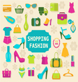 Shopping and Fashion background vector image
