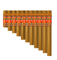 Realistic portrayal of the pan flute vector image