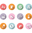 icon set children toys and games color with shadow vector image vector image
