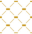 crowns seamless pattern vector image
