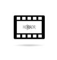 film tape horror vector image