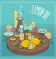 lemon oil used for aromatherapy vector image