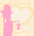 pregnant woman silhouette on shopping for her new vector image