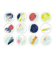set of decor elements and stickers vector image