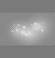 set of white lights effects isolated on vector image