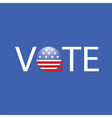 United States Election Vote Button vector image