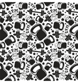 Seamless pattern gym club vector image