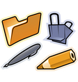 objects of stationery vector image vector image