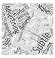Subtle Email Marketing Word Cloud Concept vector image