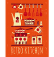 Retro kitchen poster vector image