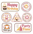 Set of celebration stamps vector image