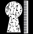 piano keyhole vector image