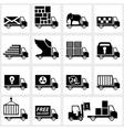 icon set delivery vector image