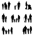 family walking vector image