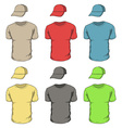 T-shirts and caps vector image