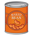 Baked beans can vector image vector image