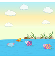 cute colorful fishes vector image vector image