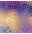 square polygonal halftone background vector image