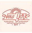 New York city line art design vector image vector image