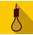 Loop of rope icon flat style vector image
