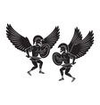 angel warrior vector image
