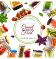 canned food frame vector image