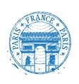 France logo design template stamp or Paris vector image