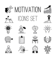 Motivations icons set vector image