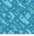 Seamless pattern of marine creatures vector image