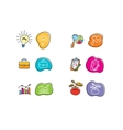 Set of drawing finance stickers icon vector image