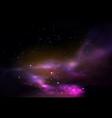 space or universe galaxy or cosmos panorama vector image