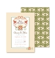 vintage wedding invitations with floral decoration vector image