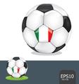 soccer ball italy euro flag vector image