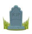 Tomb on white background Grave isolated Old vector image