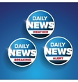 Daily news set - Weather Breaking Alert vector image