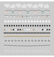 Set of Christmas borders and brushes Party vector image