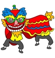lion dance Chinese vector image