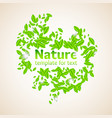 nature with leaves and a vector image