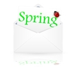 Open envelope with inscription spring vector image