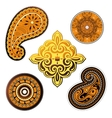Ethnic ornaments set vector image