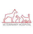 Veterinary hospital vector image