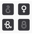 modern 8 march icons set vector image vector image