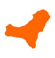 Map of El Hierro vector image vector image