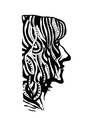 hand draw womans face profile in style zentangl vector image vector image