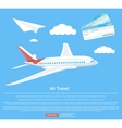 Air travel concept flying plane vector image