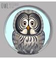 Smart grey owl cartoon series vector image