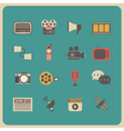 333retro communcation icon vector image