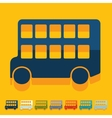 Flat design bus double decker vector image