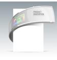 banner design for demonstration of the goods vector image