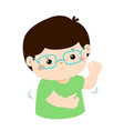 Boy with health problem allergy rash itching vector image